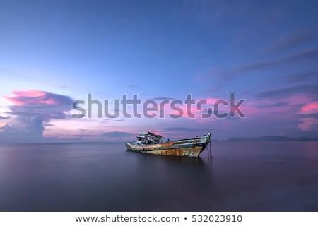 Eski ahşap tekneler kaza deniz bölge Stok fotoğraf © xbrchx