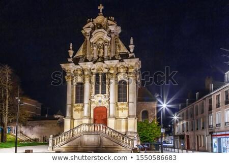 Küçük kilise Fransa Bina sokak kilise Stok fotoğraf © borisb17