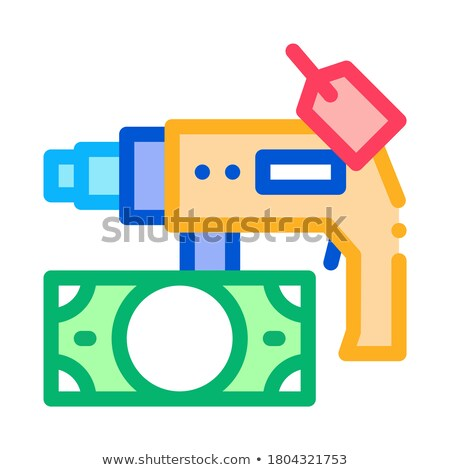 drill tool to pawnshop for money icon vector outline illustration Stock photo © pikepicture