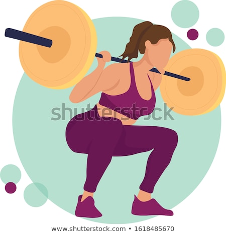 Meisje barbell Rood vrouw handen fitness Stockfoto © Nobilior