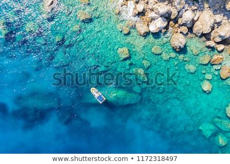 Mavi akdeniz deniz beyaz sahil Stok fotoğraf © timwege