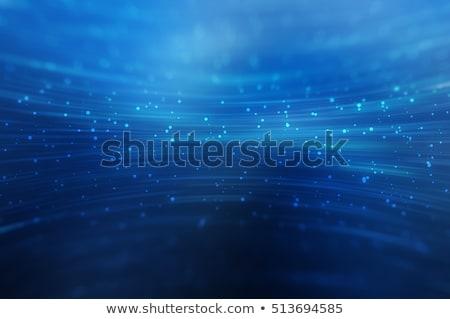 absztrakt · hullámos · kék · sugarak · illusztráció · háttér - stock fotó © saicle