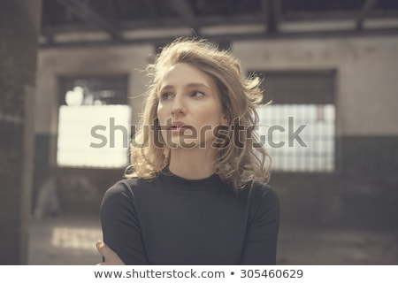 Blond Woman Looks Ahead Stock photo © lisafx