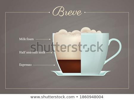 Yarım espresso fincan fincan tabağı kafe taze Stok fotoğraf © toaster