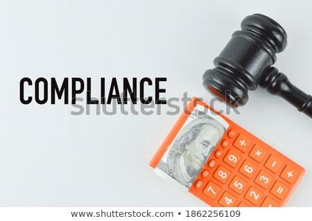 corporate · geschreven · bankbiljetten · witte · business · ontwerp - stockfoto © pterwort