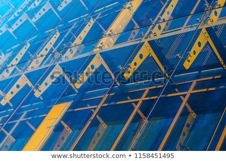 Yellow Curtains Architecture Detail Stock photo © eldadcarin
