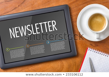 Business Concept Words Online News On Digital Touch Screen Photo stock © Zerbor