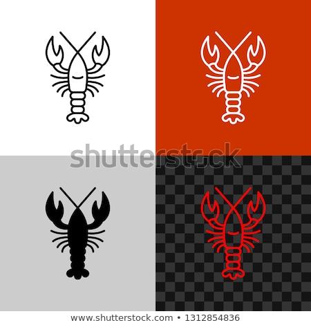 Vector icon crawfish Stock photo © zzve