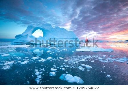 Ijsberg hemel water zee reizen geluid Stockfoto © mady70
