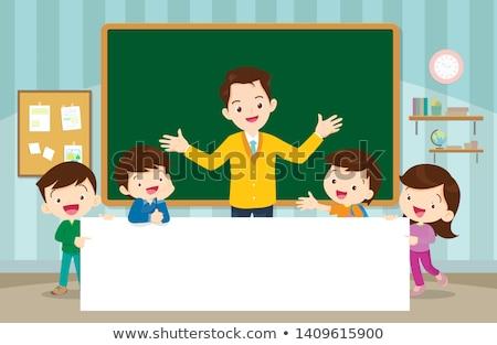 笑みを浮かべて · 少年 · リュックサック · 子供 - ストックフォト © get4net