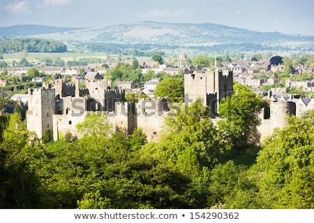 ruins of Ludlow Castle, Shropshire, England Stock photo © phbcz