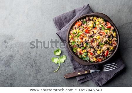 bab · kukorica · saláta · étel · gabona · étel - stock fotó © m-studio