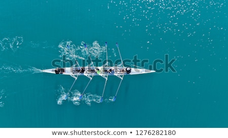 Young Women Rower in a boat Stock photo © smuki