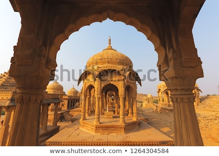 Bada Bagh complex in Jaisalmer, Rajasthan in India Stock photo © meinzahn