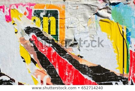 Scrapped posters Stock photo © stevanovicigor