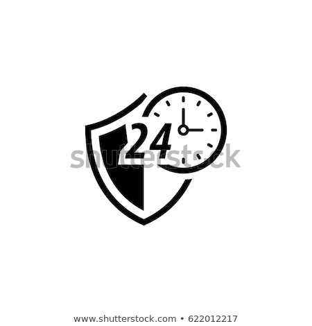 Protected 24-hour Icon. Flat Design. Stock photo © WaD