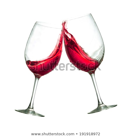 Glass filled with rose wine on a white background Stock photo © Zerbor
