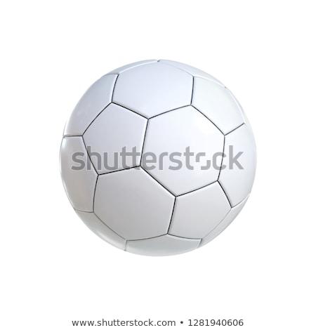 3D futebol futebol branco esportes Foto stock © maya2008