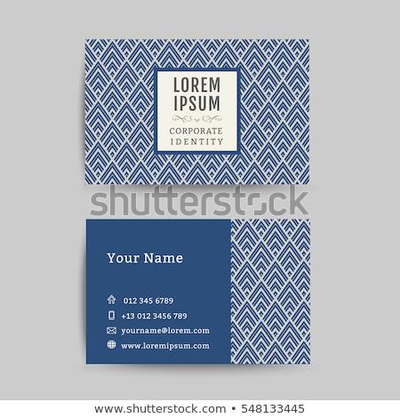 Belle carte de visite modèle bleu affaires imprimer Photo stock © SArts