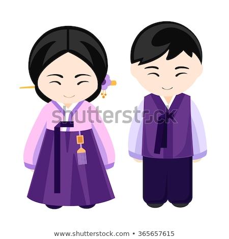 South Korean boy and girl  Stock photo © bluering