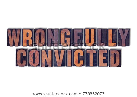 Convict Concept Isolated Letterpress Word Stock photo © enterlinedesign