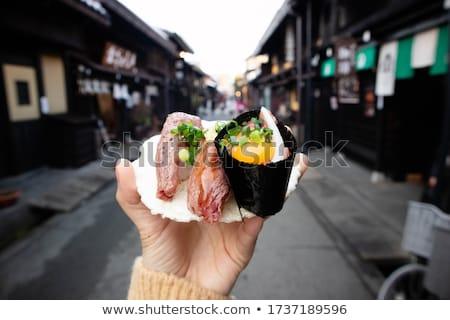 寿司 家 創造 レトロな 写真 小さな ストックフォト © Fisher