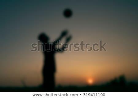 shadow of woman throwing ball stock photo © lightfieldstudios
