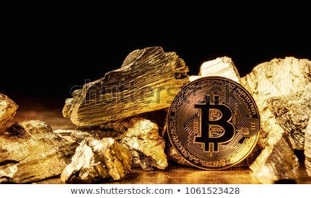 bitcoins solid as a rock Stock photo © compuinfoto