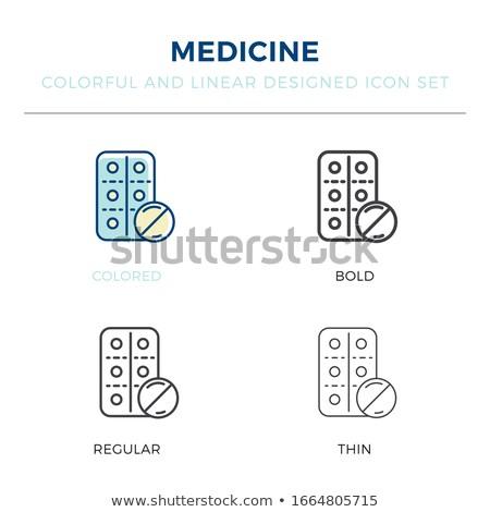 Uno tablet medici medicina scienza pillola Foto d'archivio © IS2