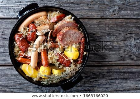 sauerkraut with meats Stock photo © M-studio