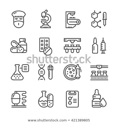 kapszula · tabletta · vektor · tabletta · gyógyszeripari · antibiotikum - stock fotó © robuart