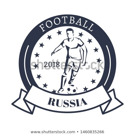 Football Russia 2018 Sporty Logotype with Kicker Stock photo © robuart