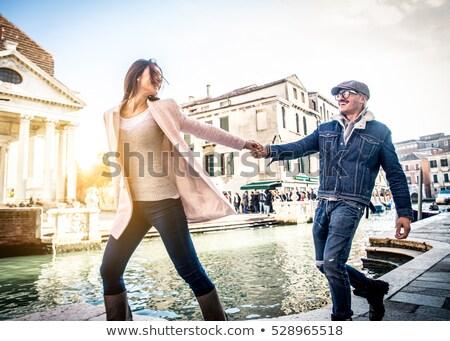 Bonito turista homem viajar Veneza Itália Foto stock © artfotodima
