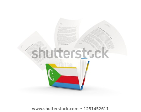 Folder with flag of comoros Stock photo © MikhailMishchenko