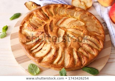 fresh pear pie stock photo © yuliyagontar
