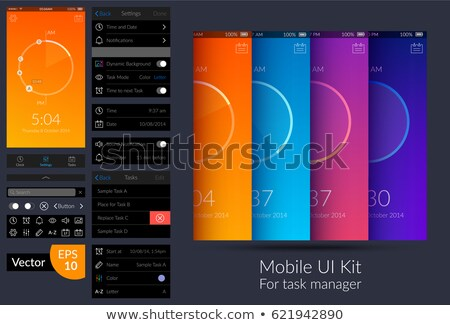 Setting or option button for web design or mobile app. vector il Stock photo © kyryloff