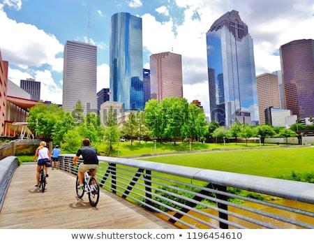 urbaine · parc · illustration · vide · ville · bâtiments - photo stock © colematt