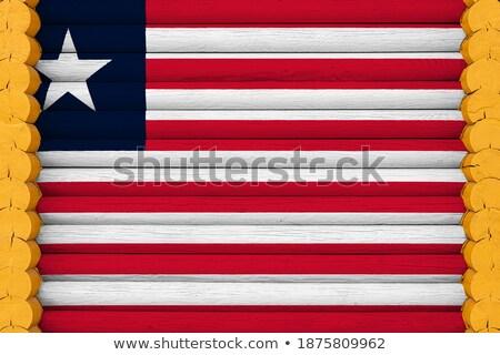 Casa bandeira Libéria branco casas Foto stock © MikhailMishchenko