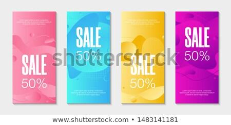 Quattro geometrica fotogrammi set diverso colori Foto d'archivio © SArts
