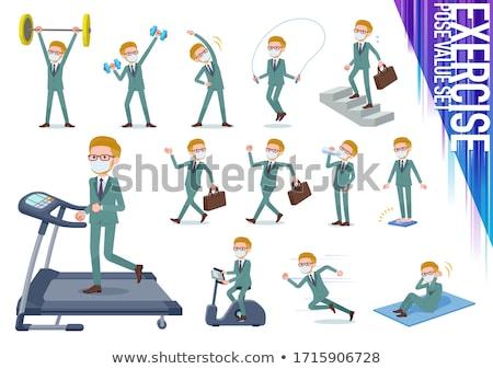 blond hair businessman_exercise Stock photo © toyotoyo