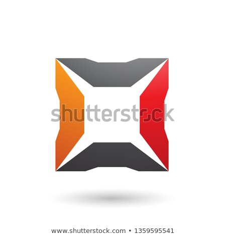 red black and orange square with spikes vector illustration stock photo © cidepix