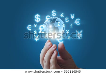 Trading concept with financial chart Stock photo © Elnur