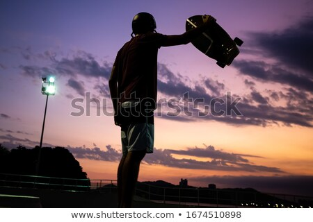 A skatepark sunset scene Stock photo © colematt