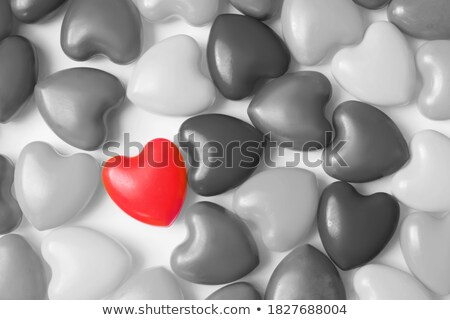 One Red heart among black Stock photo © Arsgera