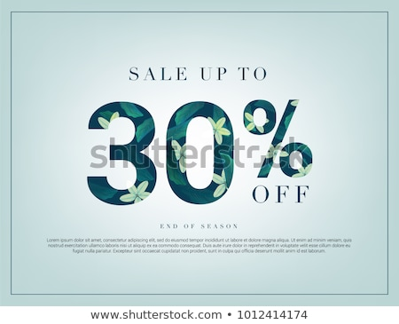 Discount 30 Percent Banner with Sale Price Flower Stock photo © robuart