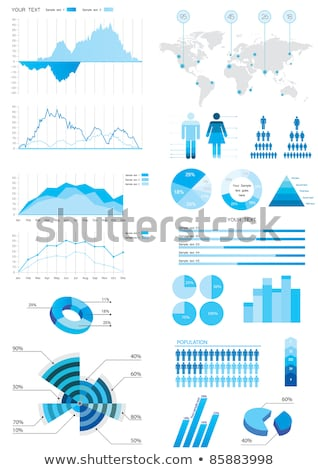 Presentation Infochart, Graph on Board Vector Stock photo © robuart