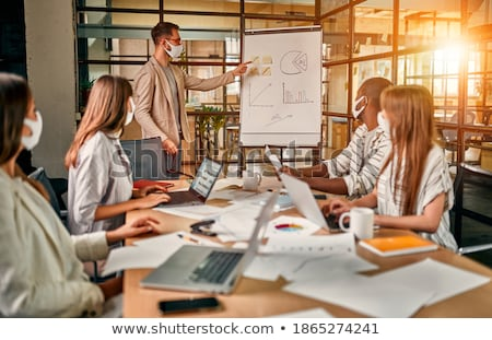 Group meeting with mind map and laptop Stock photo © wavebreak_media