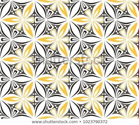 Amarillo mandala patrones ilustración fondo arte Foto stock © bluering