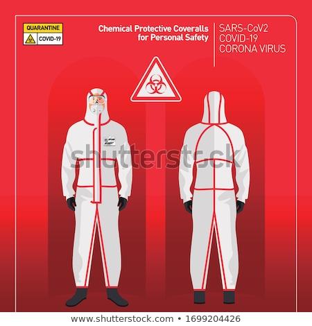 Doctors in protective coverall stop coronavirus Stock photo © -TAlex-