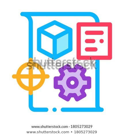 technical dispatch icon vector outline illustration Stock photo © pikepicture